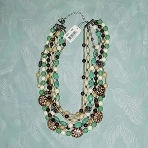 NWOT Cookie Lee Turquoise Multi-Strand Necklace